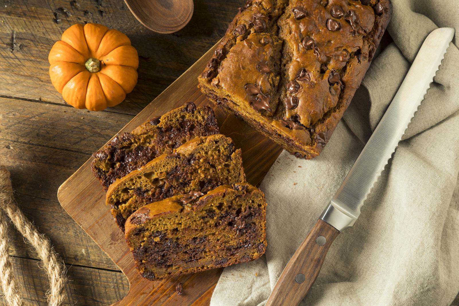 Gluten-Free Vegan Pumpkin Chocolate Chip & Cherry Bread | The ...
