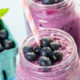 Blueberry spinach superpower smoothie