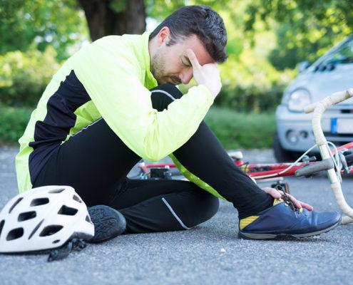 bicycle-auto accident