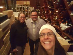 wine cellar at Morrie's steakhouse