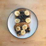 Blueberry Banana PB Toast